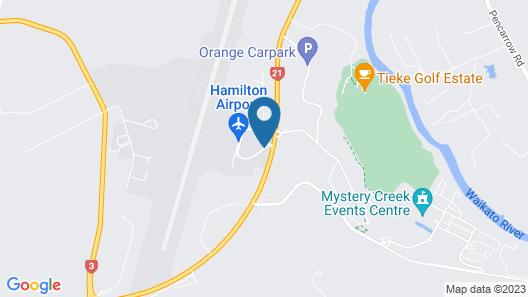 Jet Park Hotel Hamilton Airport Map