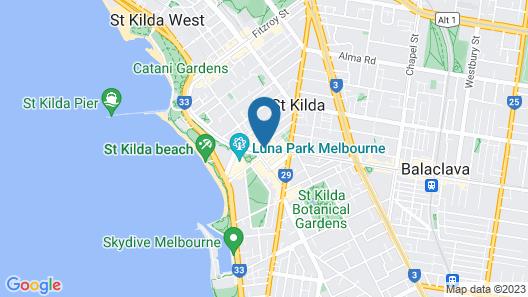 St Kilda Hostel Map