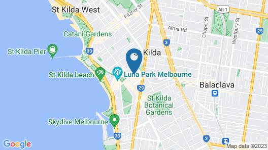 Base Backpackers Melbourne Hostel Map