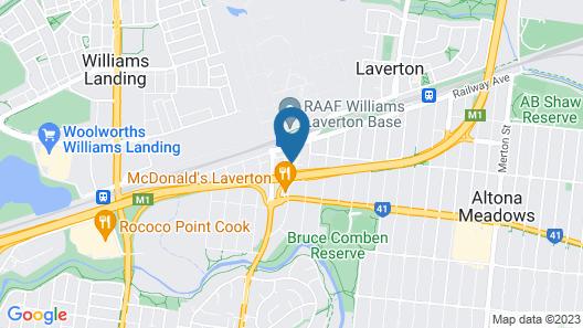 Club Laverton Motel Map