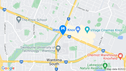 Melbourne Knox Central Apartment Hotel Map