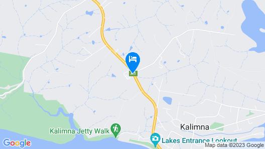 Lakes Caravilla Caravan Park Map