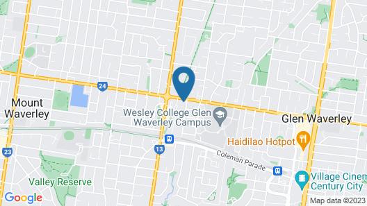 Ivy Units Glen Waverley Map
