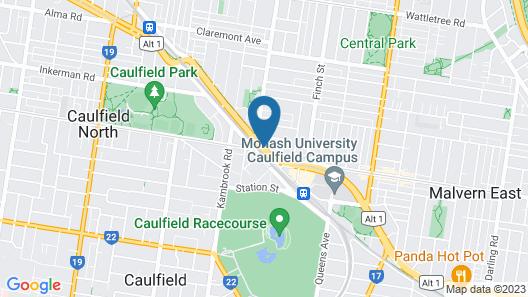 The Sebel Melbourne Malvern Map