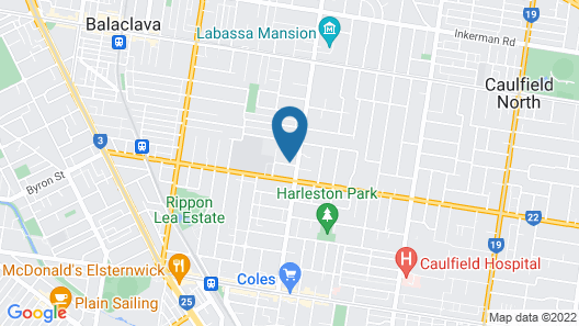St Kilda East backpackers' hostel Map