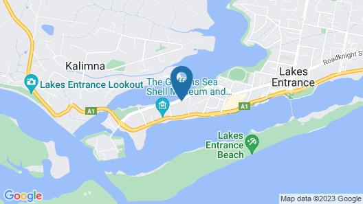 Lakeside Motel Waterfront Map