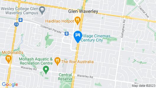 Novotel Melbourne Glen Waverley Map