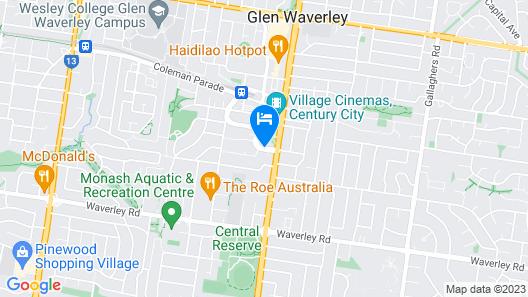 ibis Melbourne Glen Waverley Map