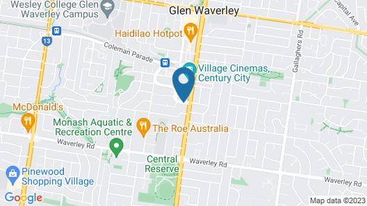 The Waverley International Hotel Map