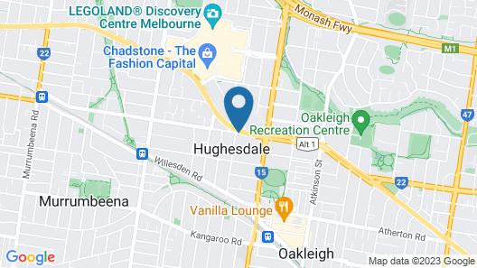 Chadstone Executive Motel Map
