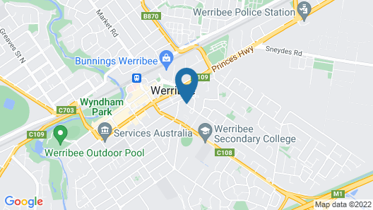 Werribee Motel & Apartments Map