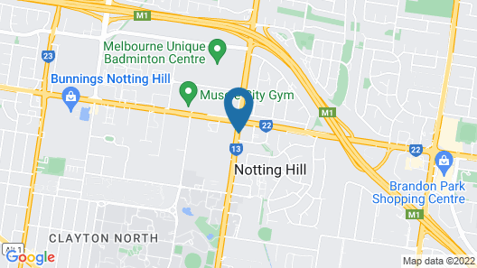 Gateway on Monash Boutique Hotel Map