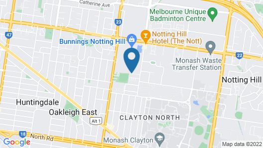 Clayton Serviced Apartments Map