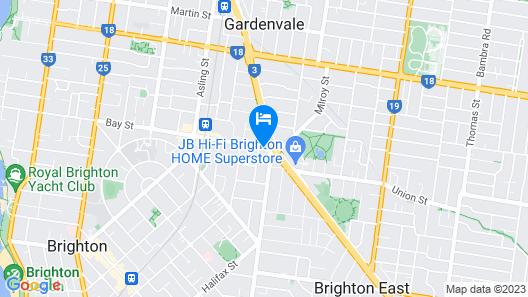 Brighton Serviced Apartments Map