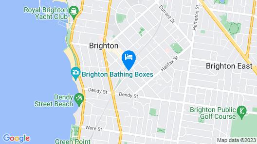 Caroline Serviced Apartments Brighton Map