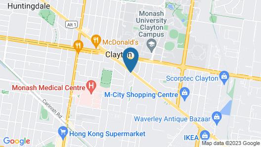 Clayton Monash Motor Inn & Serviced Apartments Map