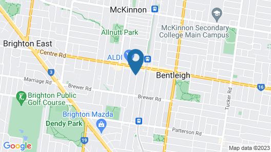 Pride Benleigh Apartment with Garden Map