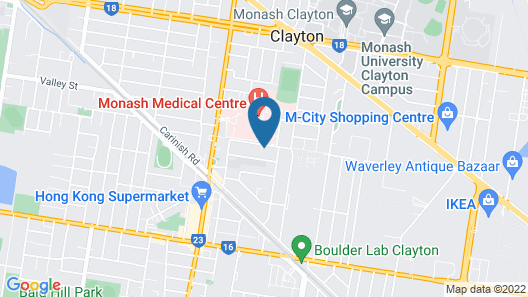 Clayton apartment Map