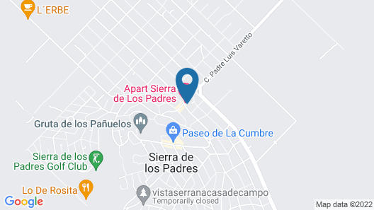 Apart Hotel Sierra de los Padres Map