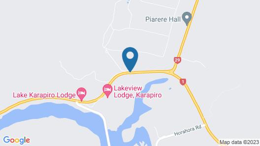 Lake Karapiro Lodge Map