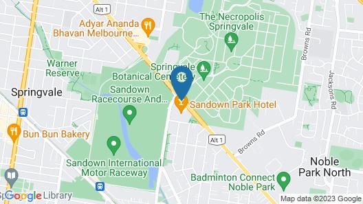 Nightcap at Sandown Park Hotel Map