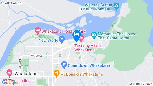 Whakatane Hotel Map