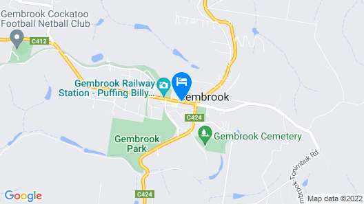 Gembrook Cottages Map
