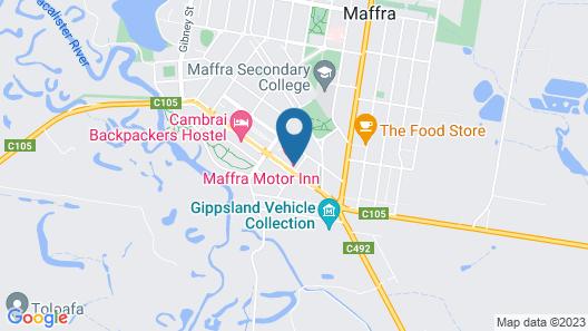 Maffra Motor Inn Map