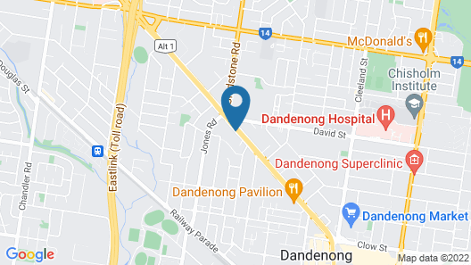 Dandenong Motel Map