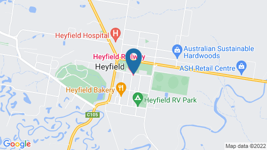 Heyfield Railway Hotel Map