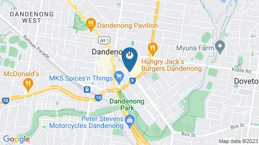 Ramada Encore Dandenong Map