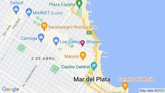 City Hotel Mar del Plata Map