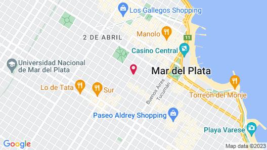Hotel Aoma Mar del Plata Map