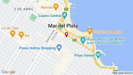 Luz y Fuerza Mar del Plata  Map