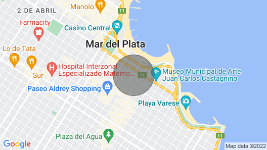 Spacious Apartment Meters From THE SEA IN Guemes Area Map