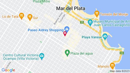 Bagu Santander  Hotel Mar del Plata Map