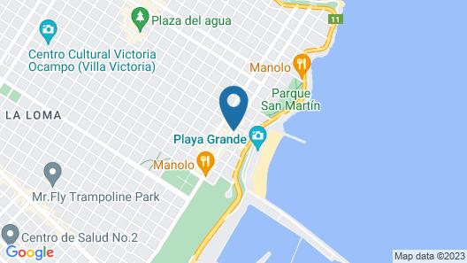 Bagu Hotel Playa Grande Map