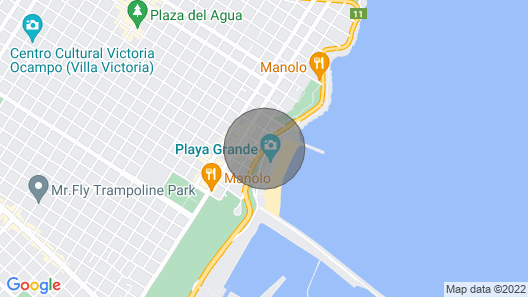 Beautiful sea Front Apartment in Argentina's Classiest Resort Map