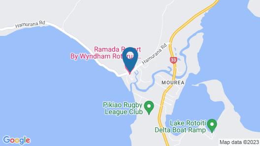 Ramada Resort By Wyndham Rotorua Marama Map