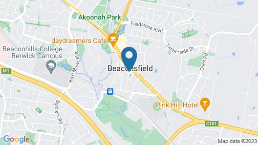 Beaconsfield Lodge Motel Map