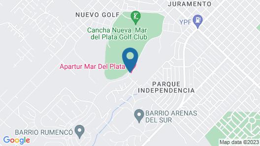 Hotel Apartur Mar del Plata Map