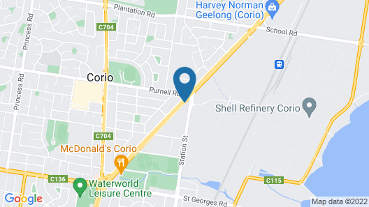 Corio Bay Motel Map