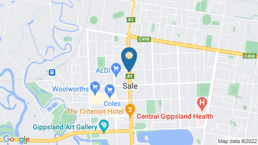 Siesta Central Apartments Map
