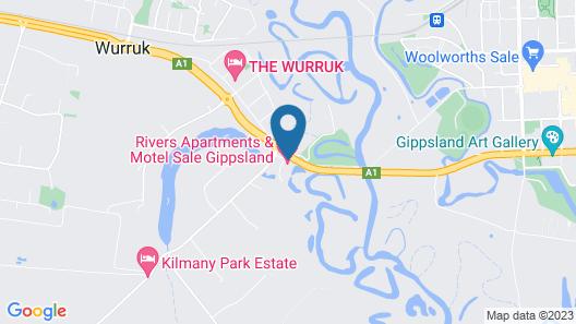 Rivers Apartments & Motel Sale Gippsland Map