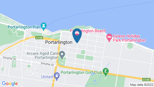 Portarlington Beach Motel Map