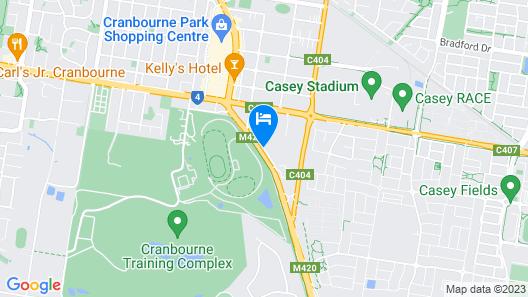 Cranbourne Motor Inn Map