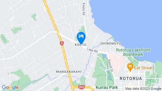 Lake Rotorua Hotel Map