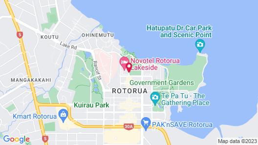 Novotel Rotorua Lakeside Map