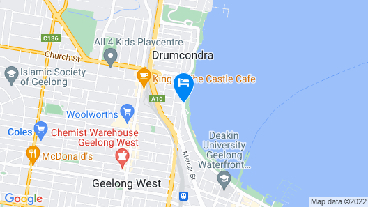 Quality Hotel Bayside Geelong Map
