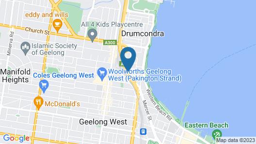 Best Western Geelong Motor Inn & Serviced Apartments Map
